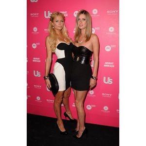 Black Alice + Olivia Roxanne Leather Bustier Dress